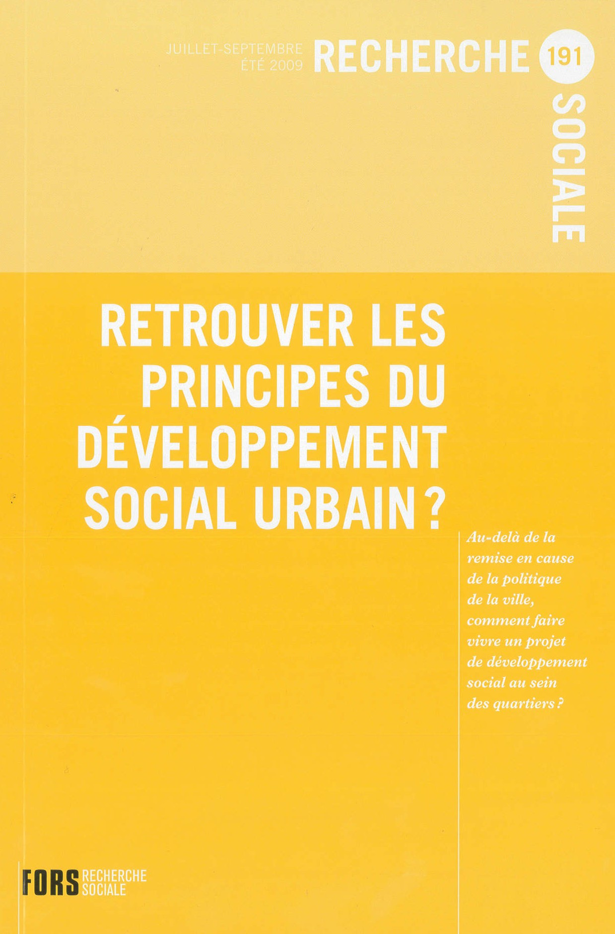 cohésion sociale et rénovation urbaine quelles articulations
